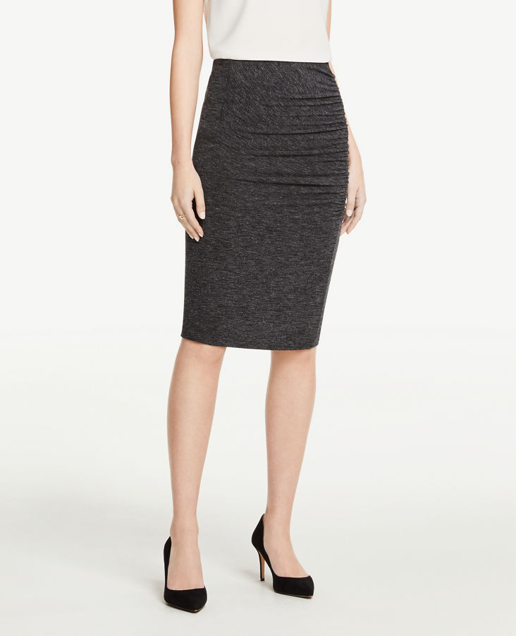 b2440c8421 Ruched Knit Pencil Skirt