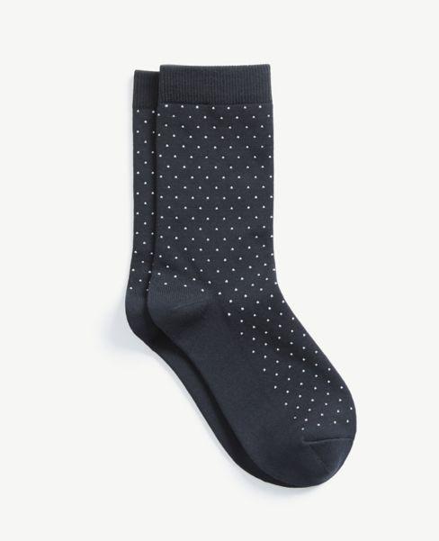 Ann Taylor Dotted Crew Socks
