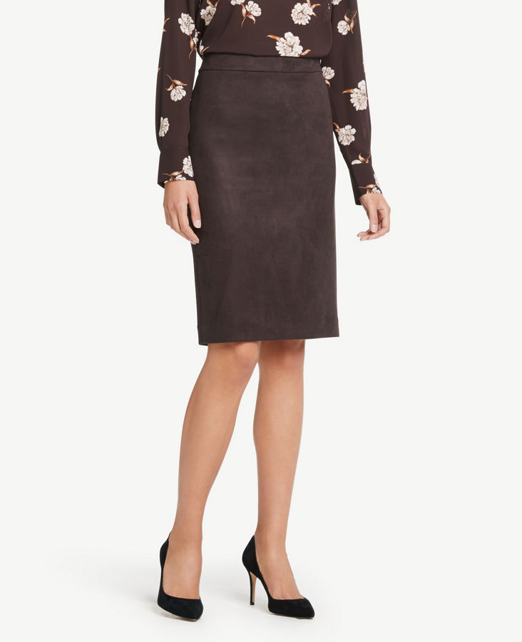 bf2072ea7 Faux Suede Pencil Skirt