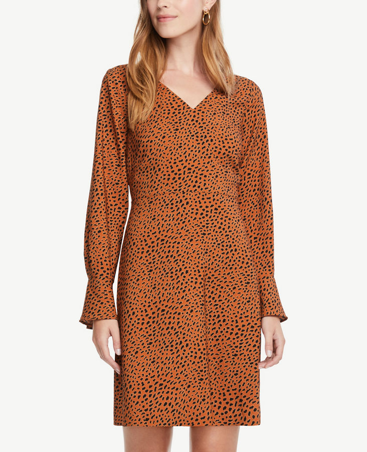 da23d8c04d1 Leopard Print V-Neck Dress 0