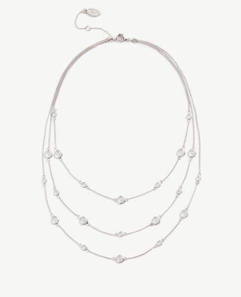 Ann Taylor Gem Illusion Necklace