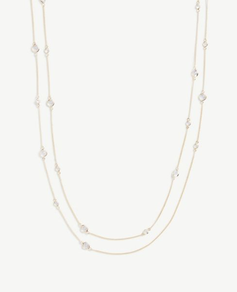 Ann Taylor Gem Layered Station Necklace