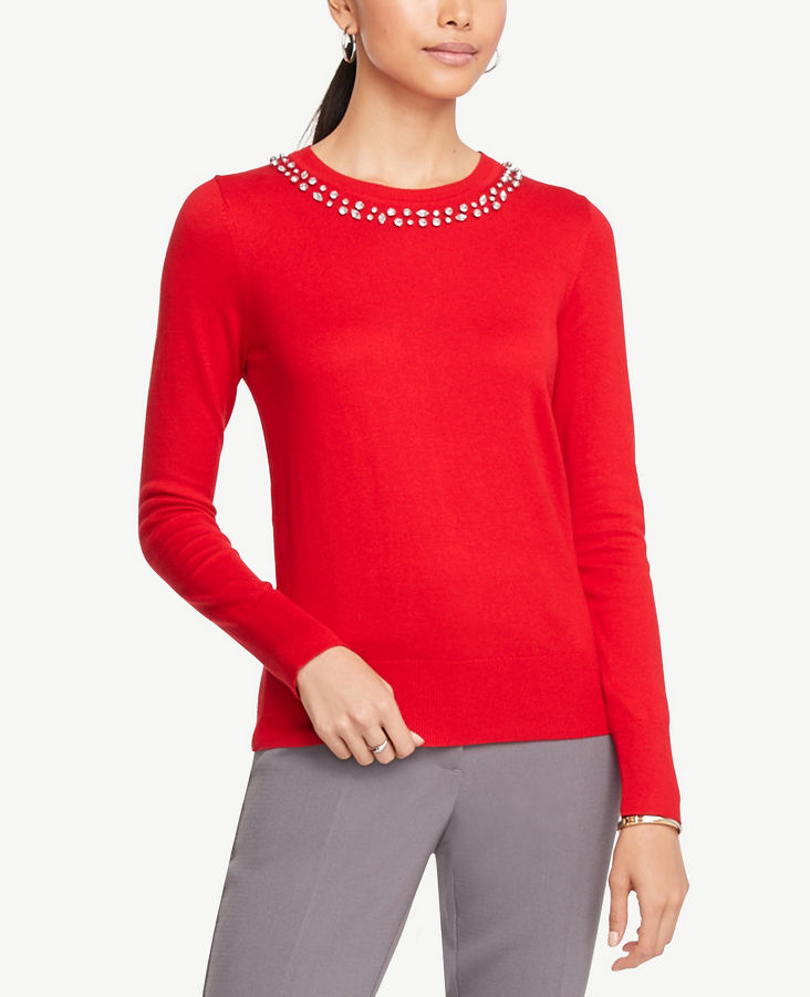 Jewel Neck Sweater