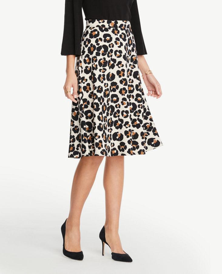 2f9d9e8c54 Petite Leopard Print Midi Skirt