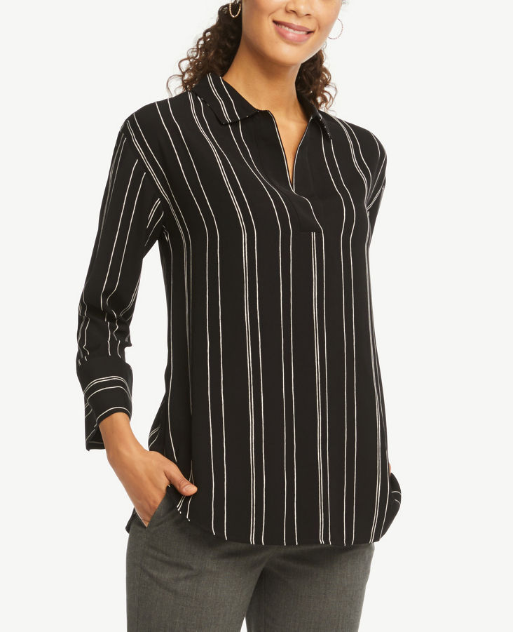 78922e48d4b Petite Striped Tunic Shirt
