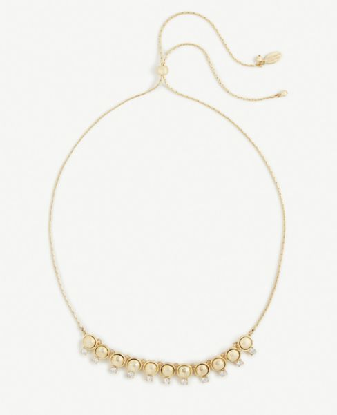 Ann Taylor Crystal Slider Necklace