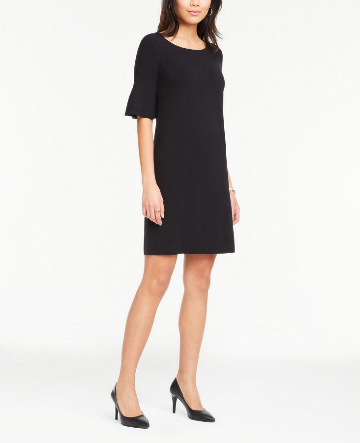 Flare Sleeve Sweater Dress 0