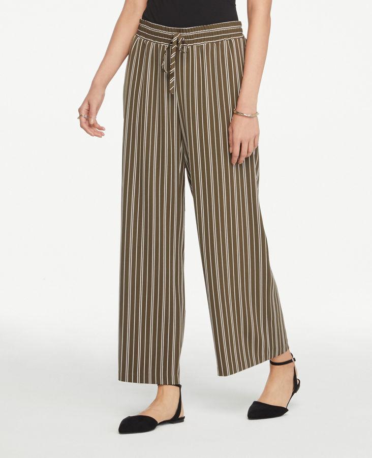 fde2512b7b13 Striped Wide Leg Drawstring Pants 0