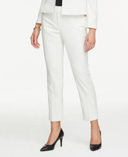 Ann Taylor Signature Ankle Pants in White