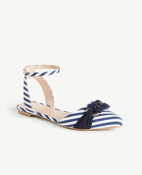 Ann Taylor Ankle Wrap Flats