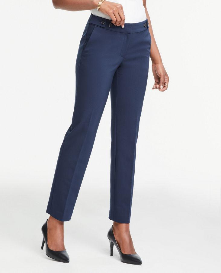 Curvy Slim Leg Pants 0