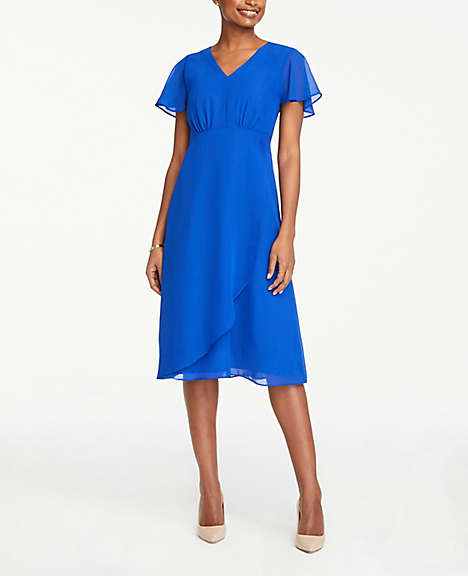 cab67713e8e Flutter V-Neck Midi Dress