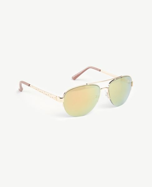Ann Taylor Polka Dot Arm Aviator Sunglasses