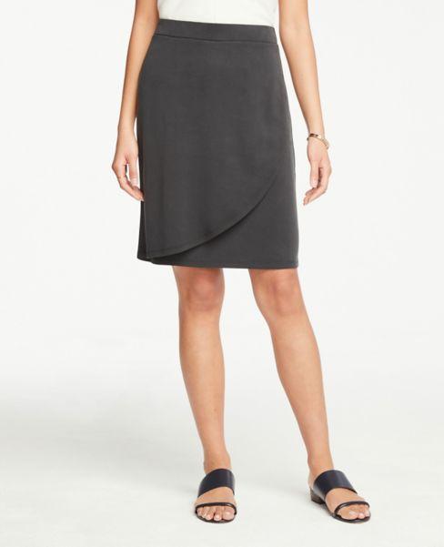 Ann Taylor Pull On Wrap Skirt