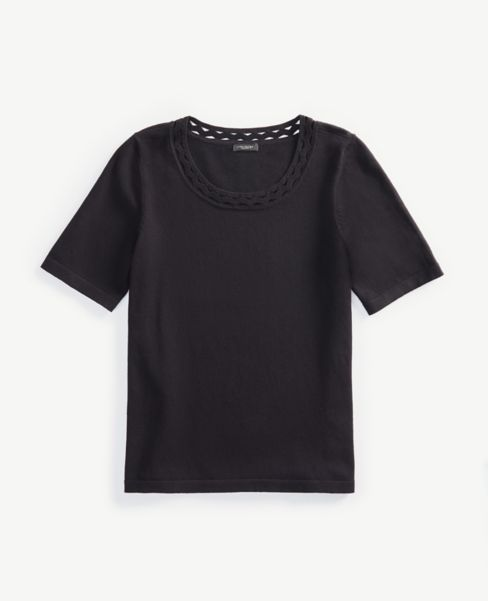 Ann Taylor Cutout Sweater Tee