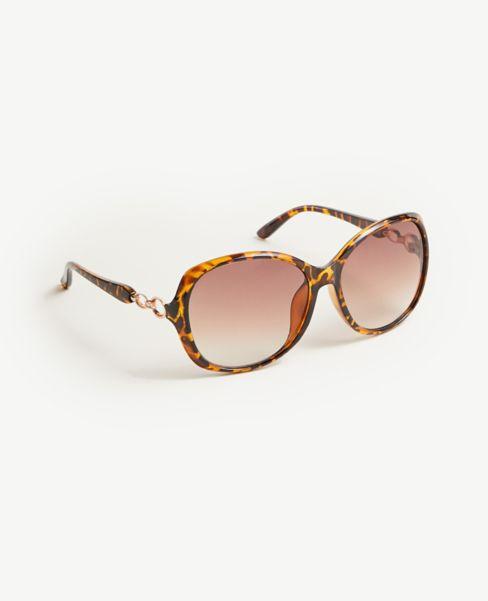 Ann Taylor Chain Trim Sunglasses