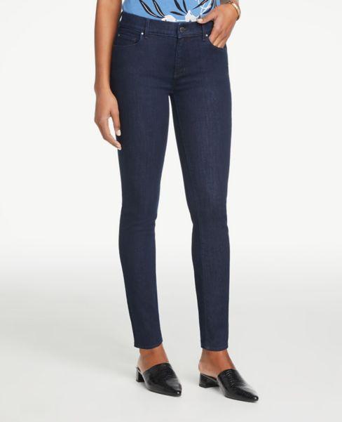 Ann Taylor Modern Skinny Jeans in Refined Dark Indigo Wash