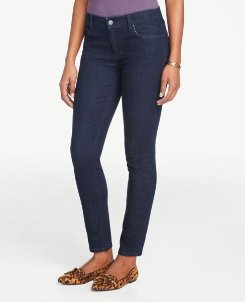 Ann Taylor Curvy Skinny Jeans in Refined Dark Indigo Wash