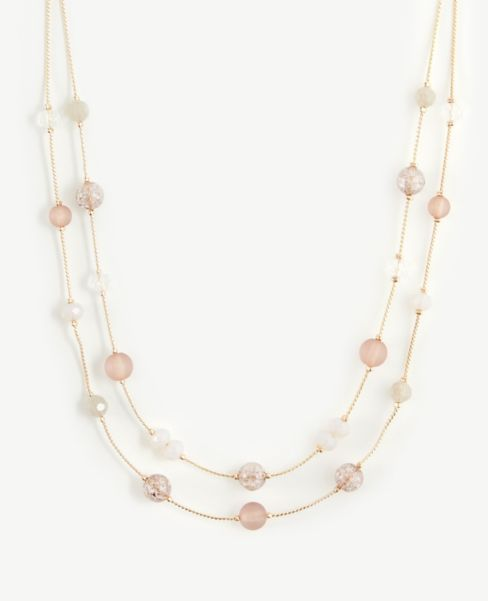 Ann Taylor Beaded Illusion Necklace