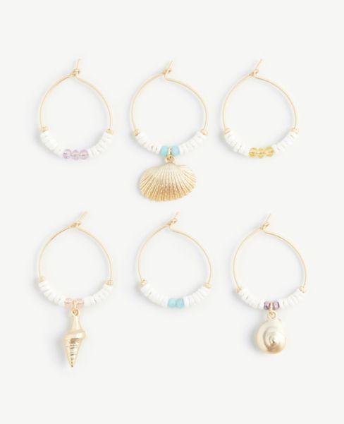 Ann Taylor Seashell Wine Charm Set