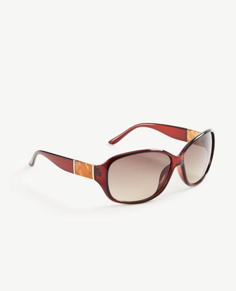 Ann Taylor Marbleized Trim Sunglasses