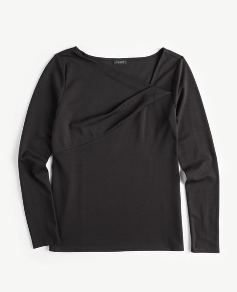 Ann Taylor Asymmetric Neck Top