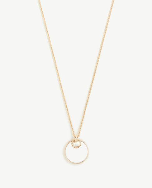 Ann Taylor Circle Pendant Necklace
