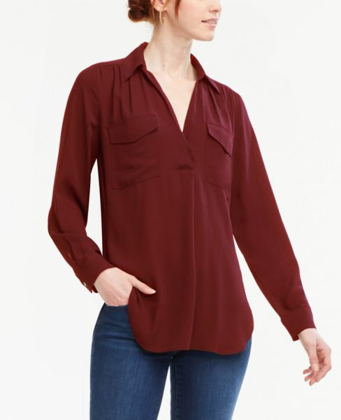 Ann Taylor Modern Pocket Shirt