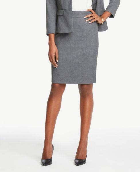 Ann Taylor Pencil Skirt in Birdseye