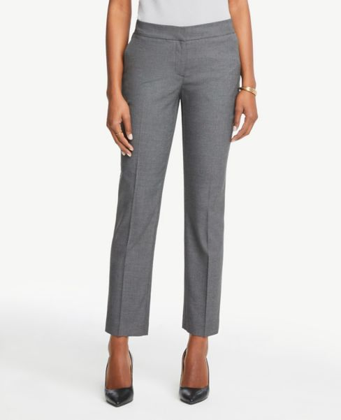 Ann Taylor Petite Signature Ankle Pants in Birdseye