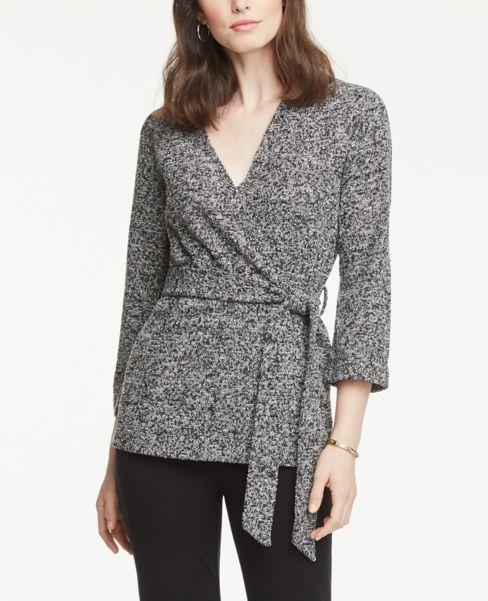 Ann Taylor Marled Wrap Jacket