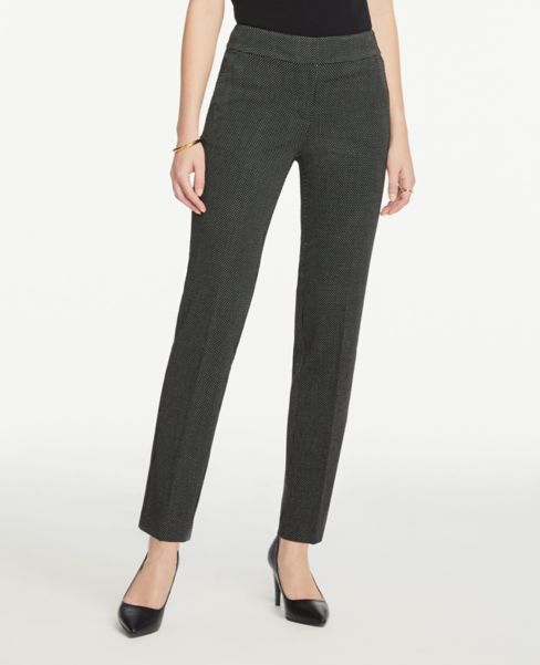 Ann Taylor Petite Curvy Slim Pants in Dots