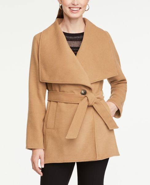 Ann Taylor Draped Collar Jacket