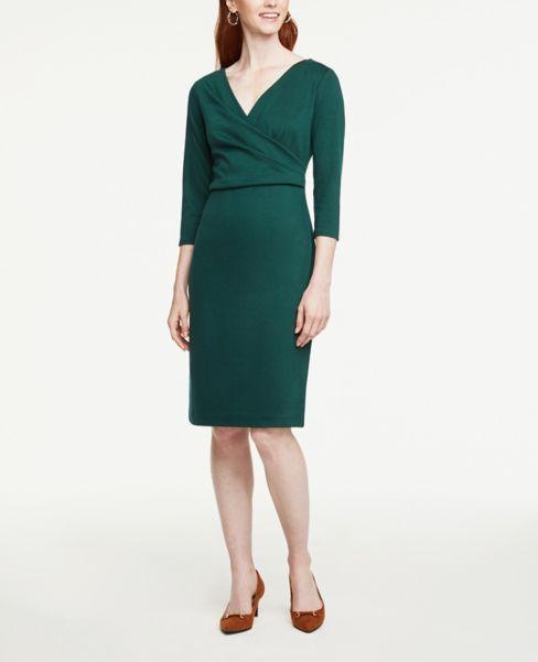 Ann Taylor Petite 3/4 Sleeve Sheath Dress
