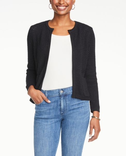 Ann Taylor Petite Pocket Sweater Jacket