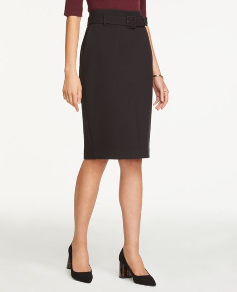 Ann Taylor Petite Belted Slit Pencil Skirt