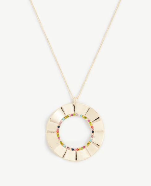 Ann Taylor Floral Pendant Necklace