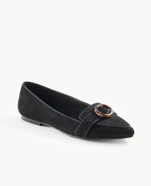Ann Taylor Buckled Loafers