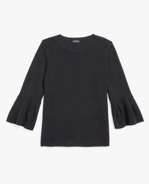 Ann Taylor Flare Sleeve Sweater