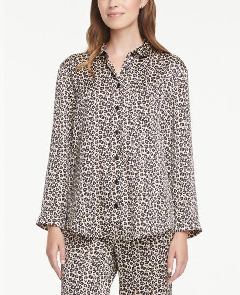 Ann Taylor Cheetah Print Pajama Shirt