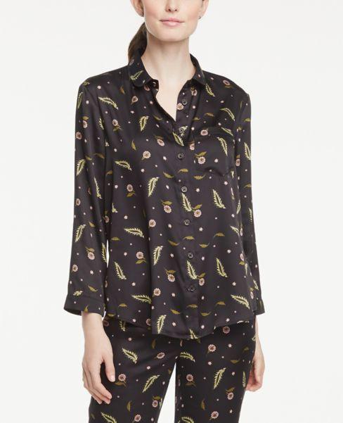 Ann Taylor Floral Pajama Shirt