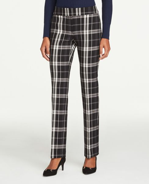 Ann Taylor Modern Plaid Straight Leg Pants