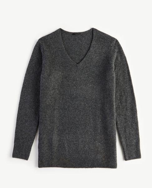 Ann Taylor Cozy Knit V-Neck Tunic Sweater