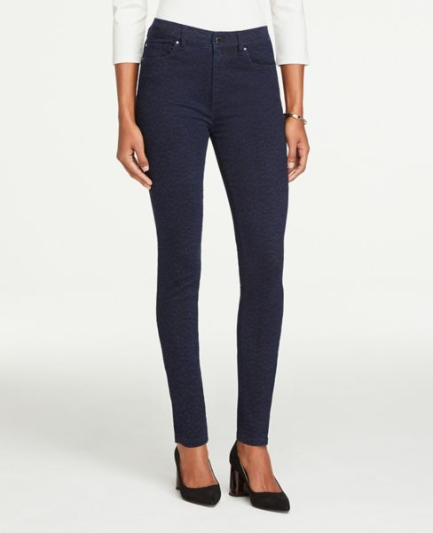 Ann Taylor Modern Leopard Print Skinny Pants