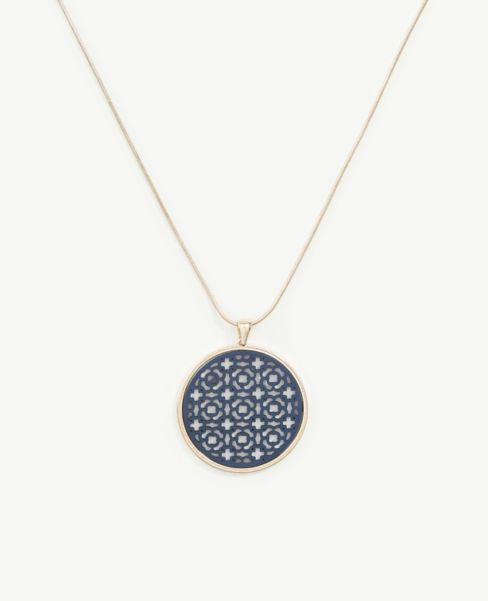 Ann Taylor Filigree Pendant Necklace