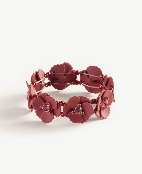 Ann Taylor Matte Floral Stretch Bracelet