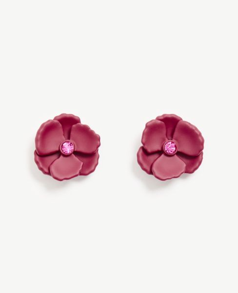 Ann Taylor Matte Floral Stud Earrings