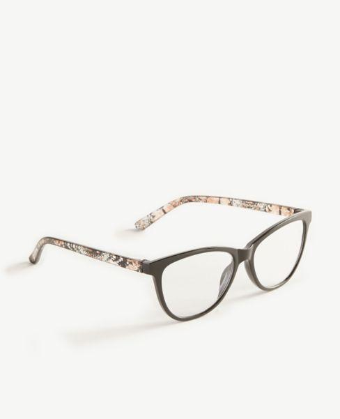Ann Taylor Snakeskin Print Arm Reading Glasses