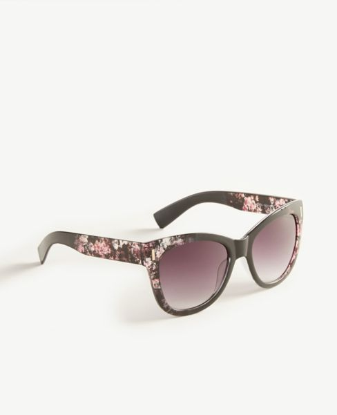 Ann Taylor Floral Round Sunglasses