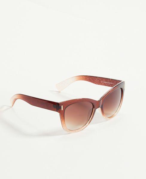 Ann Taylor Glitter Ombre Square Sunglasses